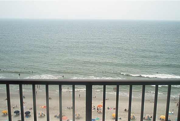 Myrtle Beach Home Rentals - Ocean Park oceanfront condo #1208